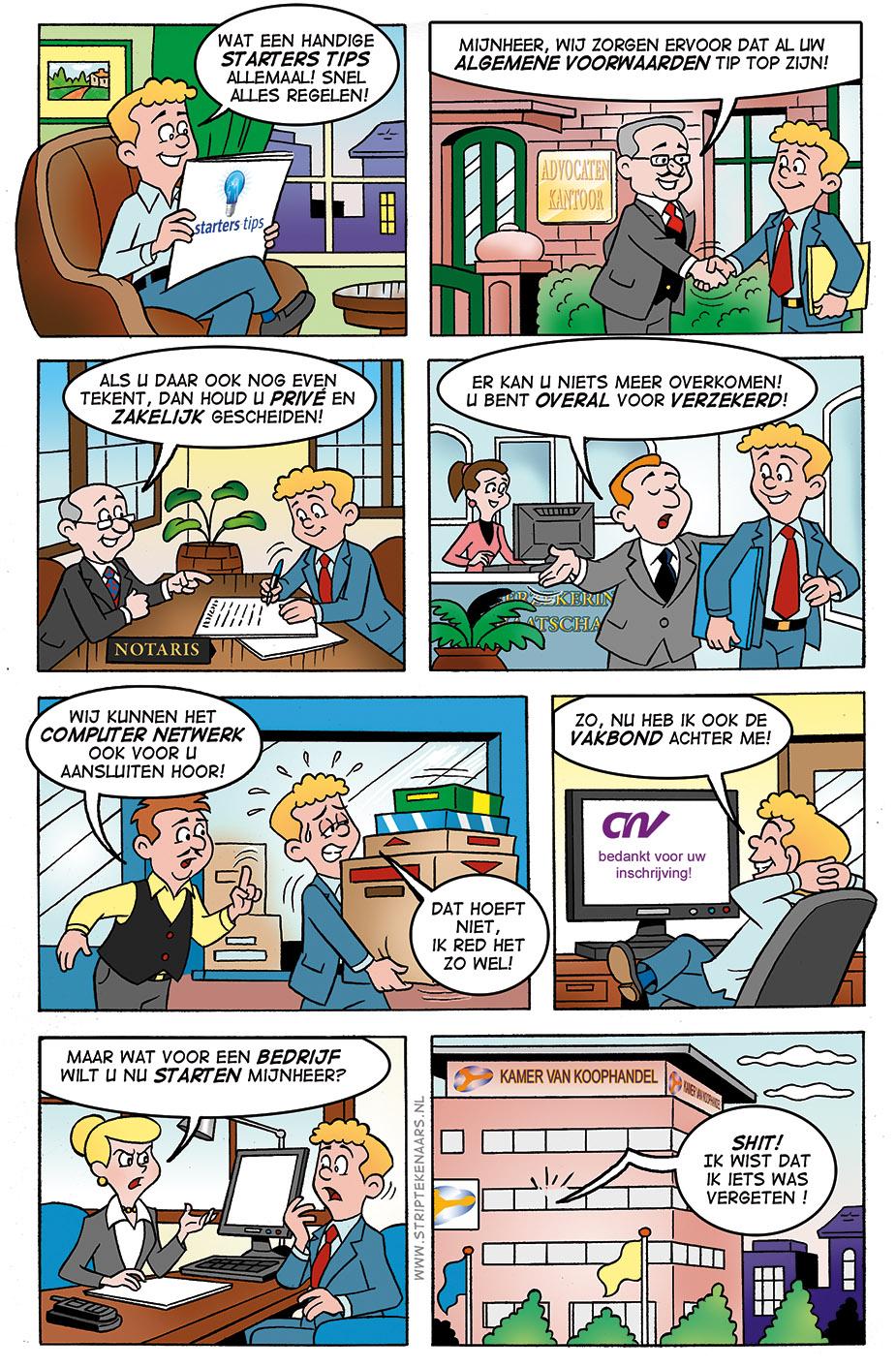 striptekenaars-reclamestrip