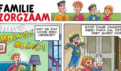 Striptekenaars-strip Familie Zorgzaam