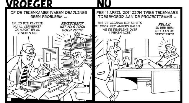 Cartoons voor verbeter processen